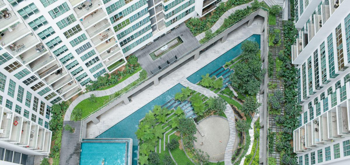 luxury development aerial photo